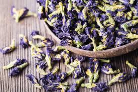 Blue lotus tea flower dried